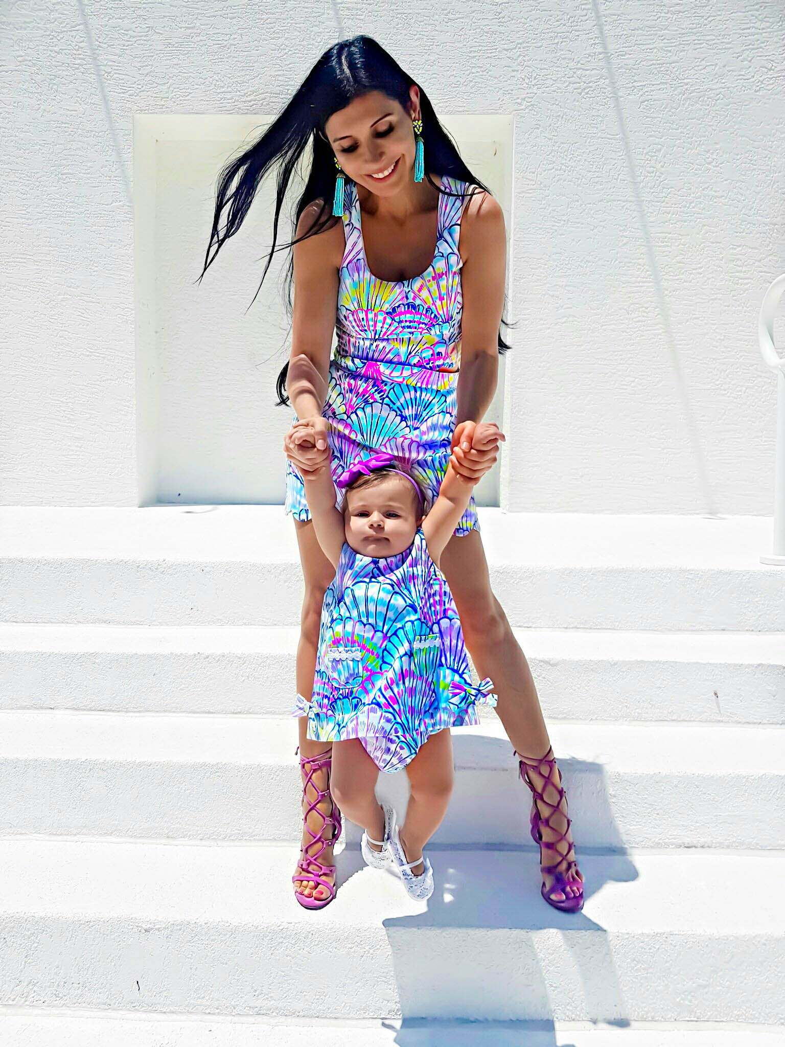 8cd9e291f9 Lilly Pulitzer Cadden Scalloped Mommy And Me matching dresses clothes